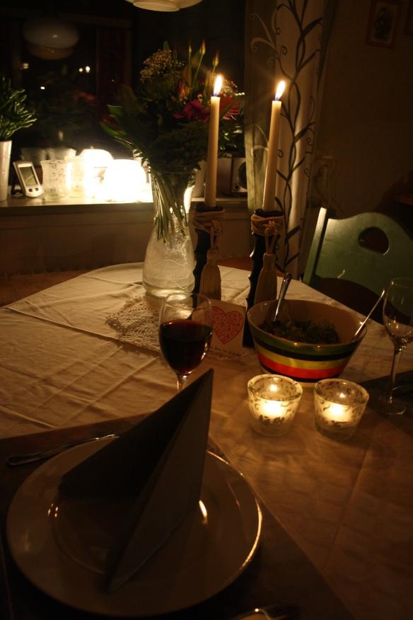 Myspys alla hjärtans dag middag med Erik :)